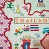 タイ地図刺繍ついに完成!