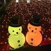 冬といえばイルミネーション☆大阪の時の広場にいる仲良し雪だるま