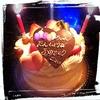 誕生日ケーキとタイ料理(外食)