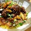 鶏皮とレバーの煮物