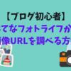 【ブログ初心者】はてなフォトライフから画像URLを調べる方法