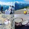 山頂でウェディング撮影と山前式を挙げました。