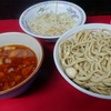 蓮爾 登戸店 (2) つけ麺 「おびただしい程のラー油と胡麻油とムチ」2018年6月 (ラーメン28杯目)