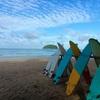 カタビーチの朝空