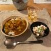 大根と鶏肉のカレーライス、ポテトサラダ、(レバーのしぐれ煮)