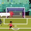 [Scratch] サッカーゲーム(PK戦)を作ろう!-先攻・後攻で交互にシュートしよう(4/6)-