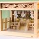 小さな箱型の神棚 しめ縄、紙垂、結界柵がついたガラス箱宮神殿
