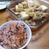 揚げ出し豆腐と干しエビの炊き込みご飯
