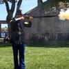 Fort Mackinacはアメリカの独立戦争で残った初期の砦のひとつ。当時のライフルや大砲を使ったデモンストレーションが見られます。