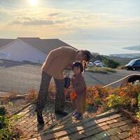 【スザンヌの妹マーガリンの子育てブログ】熊本の絶景カフェ♡黄金に輝く海をみながら☺️オーナーさんは元◯◯!!♡