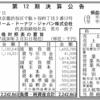 クリスピー・クリーム・ドーナツ・ジャパン株式会社 第12期決算公告