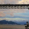 今朝も関門海峡