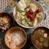 きゅうりと玉ねぎと豆腐のお味噌汁