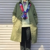 今日の服|ベーシックなコートスタイルに、差し色で変化をつけてみたコーデ