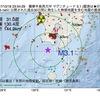 2017年10月18日 23時54分 薩摩半島西方沖でM3.1の地震