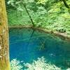 青池を十二湖で初めて見た時、沼・湖・池の違いがわからず混乱したという昔話