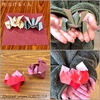 たけるくんの「かぶと」と、創作折り紙「縄文土器」