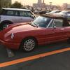 桜の花舞い散る日にオープンカーででかけました