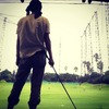 ゴルフ練習場でアプリ使ってマネジメントをシミュレート。妄想とも言う。