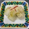 エッグタルト&冬瓜の甘酢漬け、鰹のガーリックオイル炒め、茄子の素揚げみぞれ煮、厚揚げの葱味噌詰め焼き