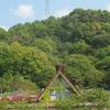 森の工房AMAの塔屋とヒラドツツジ 利用者の絵