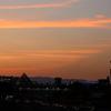 昨日の大阪の夕焼け