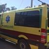キルギスで救急車に運ばれる