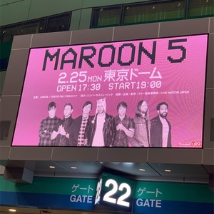 Maroon5@東京ドームを観た