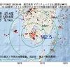 2017年08月07日 09時39分 鹿児島湾でM2.5の地震
