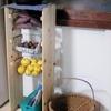 竹かごの修繕と野菜ストッカー