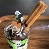 上野動物園でパンダのシャンシャンを見て、木登りソフトを食べてきました。