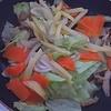 ポン酢とあの食材を使った野菜炒めが激ウマでした!