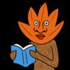 読書の秋 のかわいいイラスト