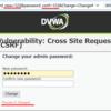 DVWAでCSRF(Medium)