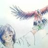 鷹に攫われる子供。「パパ~。見て~。」