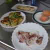 幸運な病のレシピ( 2003 )朝:ホウレンソウオムレツ、鮭、塩サバ、イカ、味噌汁、マユのご飯