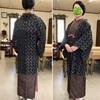 地味めの羽織と大島紬のシックなコーデ(こんなのも好き)