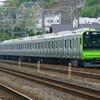 4月19日撮影 東海道線 大磯~二宮間 山手線新型車両 E235系 試運転