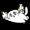 空を飛ぶ猫天使の無料イラスト