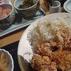 鶏の唐揚げ明太風味定食