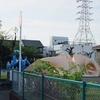 青とベージュの海洋生物系?滑り台/和歌山県田辺市
