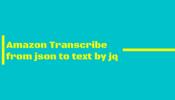 Amazon Transcribeの結果で出力されるjsonファイルをjqで出力する