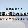 【学生必見】海外留学によって得られるメリット5つまとめ!
