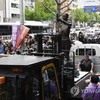 釜山・日本総領事館前「行進」計画をめぐる市民団体と警察当局との対立
