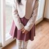 めいっこに入学式用の手縫い服を届けに。