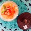 冷たいトマトとカマンベールチーズの茶碗蒸し