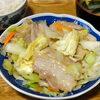 今日の食べ物 朝食に豚肉と野菜の炒め物