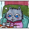 4コマ猫まんが ダーリンからの電報
