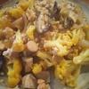 カリフラワーと椎茸の鶏鶏鶏餡