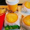 マクドナルド   チキンクリスプ 3個 マックフライポテト L  プレミアムローストコーヒー M